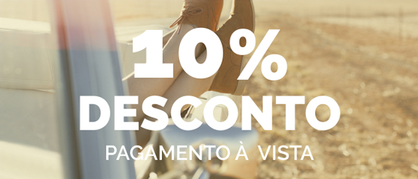 10% de desconto para pagamento à vista