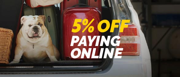 5% OFF Paying Online through our website!