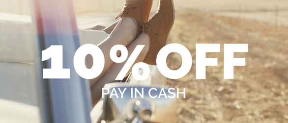 10% off paid in cash